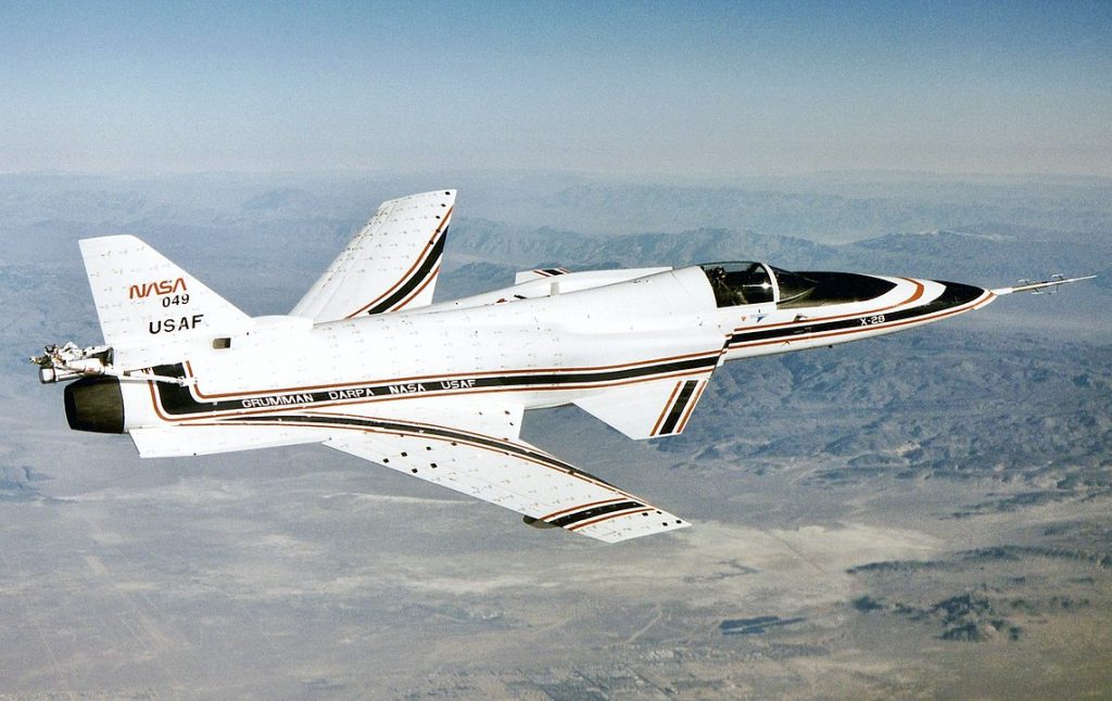 Photo of the Grumman X-29 Experimental Aircraft