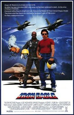 Theatrical poster of Iron Eagle movie